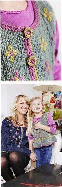 Как украсить вязаную жилетку