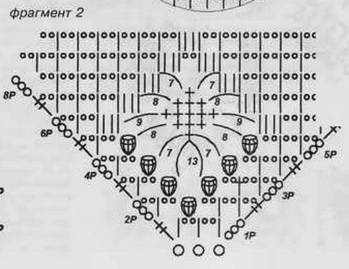 вязание крючком фрагмент 2