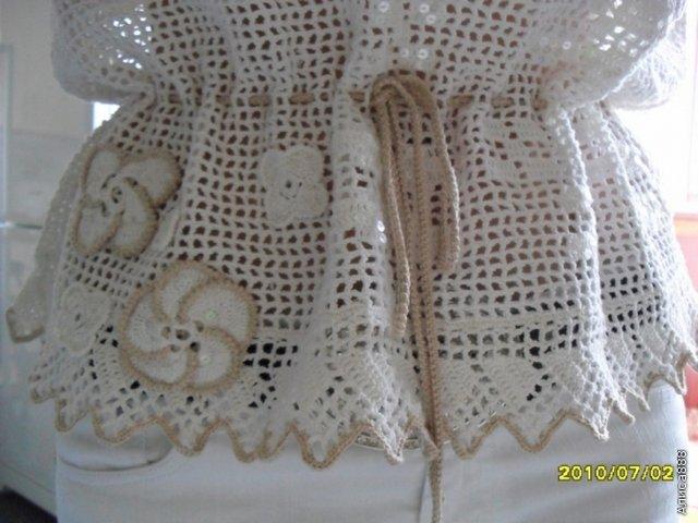 кофточка крючком филейное вязание