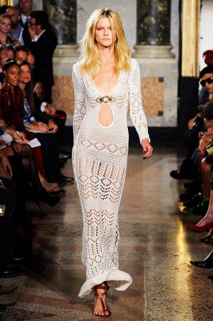 Шикарное вечернее вязаное платье спицами от Эмилио Пуччи