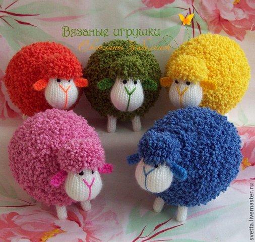 вязаные овечки спицами
