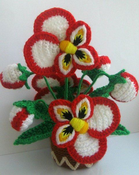 цветы связанные крючком их так много и все такие красивые