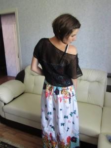 филейное вязание кофточка
