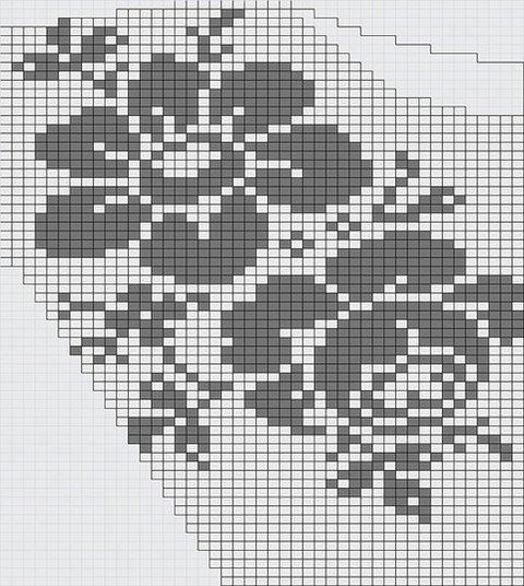 филейное вязание кофточка схема
