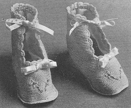 вязание для детей пинетки