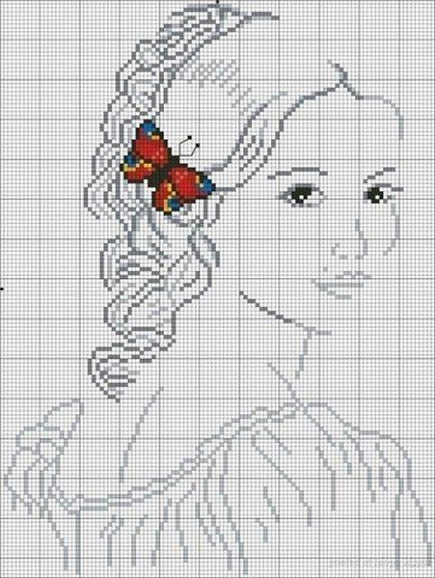 вышивка крестиком женщины схемы