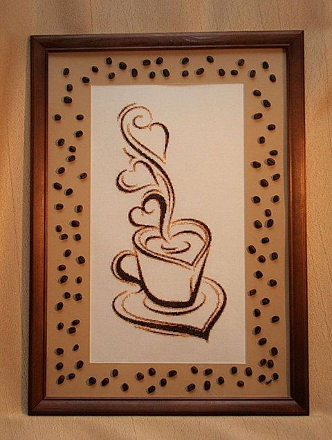 вышивка крестиком кофейное