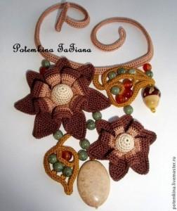 вязаное украшение крючком