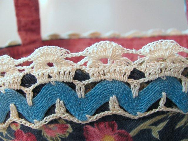 Вязаное кружево и тесьма вьюнок. Неплохая идея