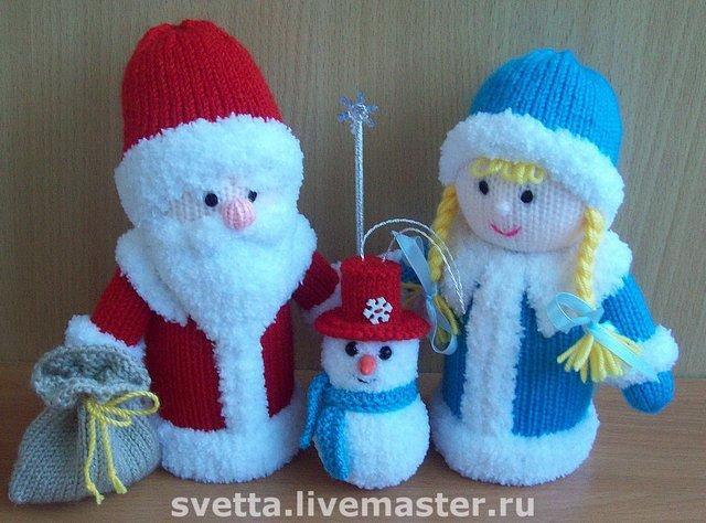 Схемы вязания деда мороза и снегурочка