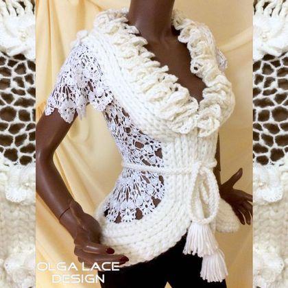 Креативное вязание жилеты