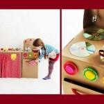 Кухня для девочки. Из картонной коробки. Отличные идеи
