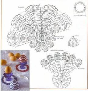 вязаная грелка для яиц схема вязания
