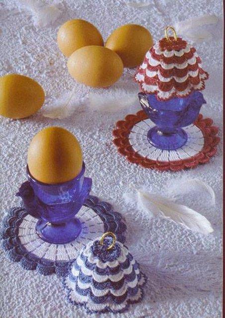 вязаная грелка для яиц