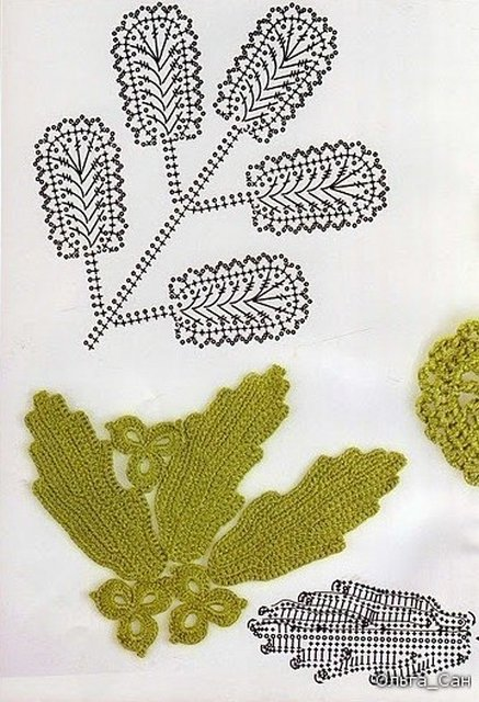 листики крючком