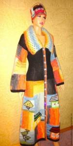 вязаное пальто Анны Лесниковой