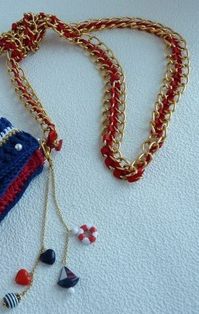 b2bcb6f070a7 Ручки для сумочки - из цепочки (мастер-класс) | razpetelka.ru