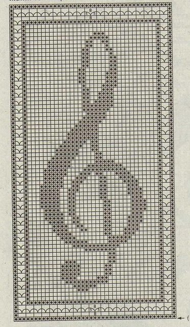Схема для вышивки крестом скрипичный ключ