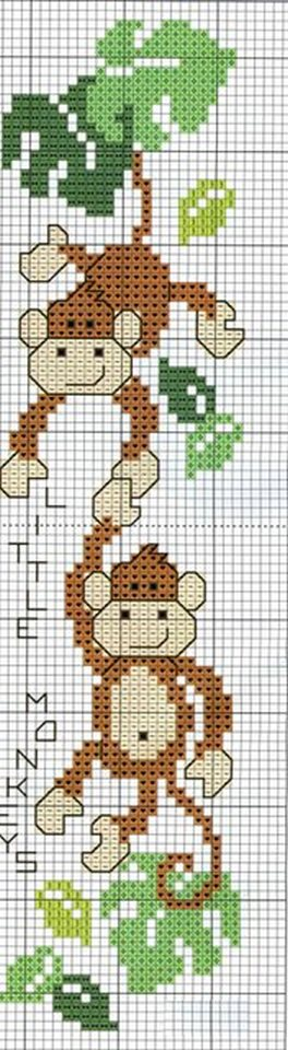 вышивка обезьянки крестиком