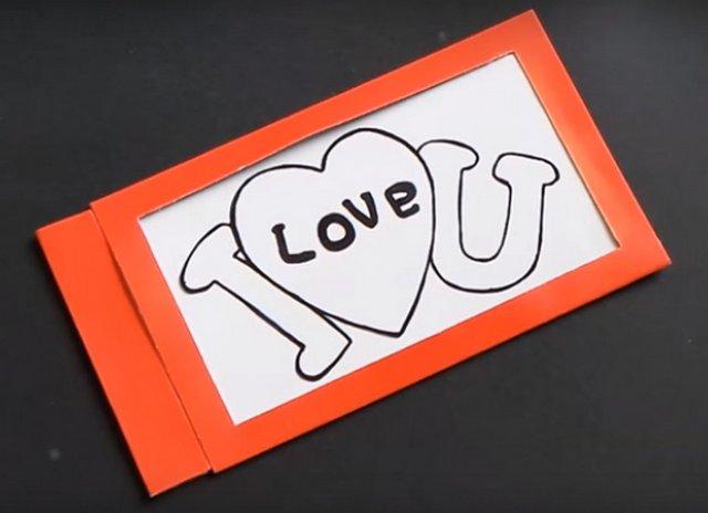 открытка валентинка