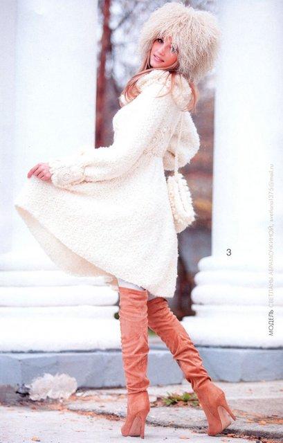 обалденно красивое вязаное пальто от светланы абрамочкиной