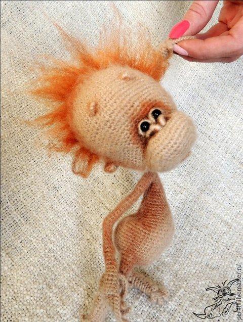 Вязаные обезьянки. Орангуташик Веничка и Орангутан Гуня от Per4ik