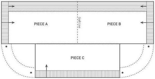 вязаное пончо схема