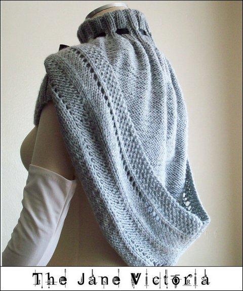 вязаный шарф капюшон
