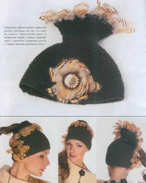 вязаные шапочки для женщин