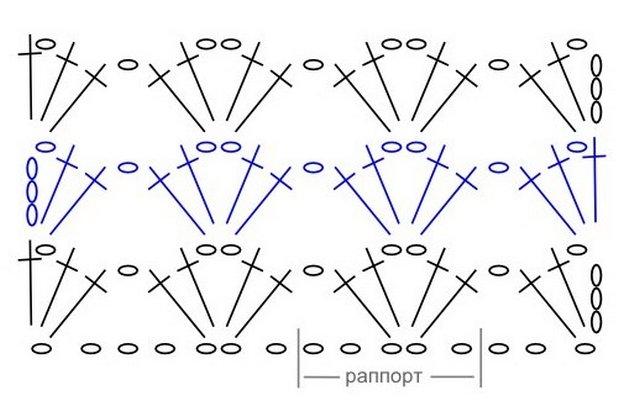 сетка крючком схема