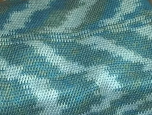 001 - Тунисское вязание. Узор рогожка;. Мастер-класс
