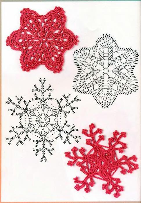 снежинка крючком схема