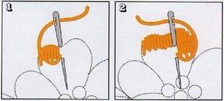вышивка гладью по трикотажу