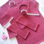 вязаное платье кружевница