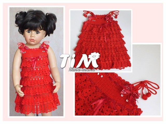 Вязаные платья для девочек. Очень красивые | razpetelka.ru