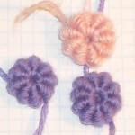 цветок из почтовых столбиков
