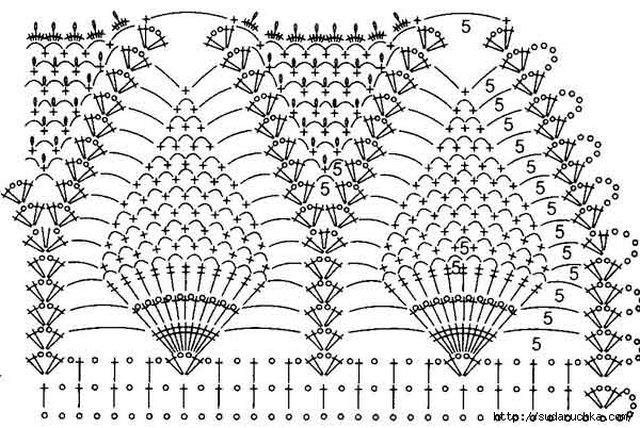 вязаные совы крючком схема