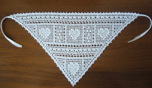филейное вязание косынка