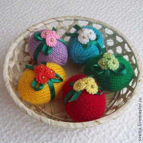 вязание крючком пасхальных сувениров