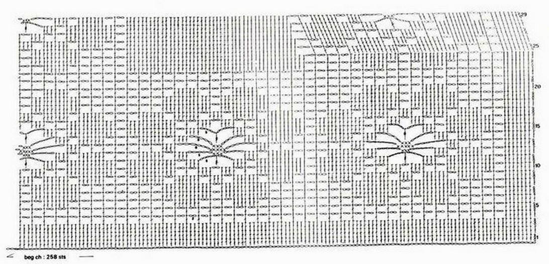 фартук схема вязания