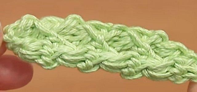 шнур из столбиков с накидом