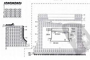 вязаные шорты крючком схема