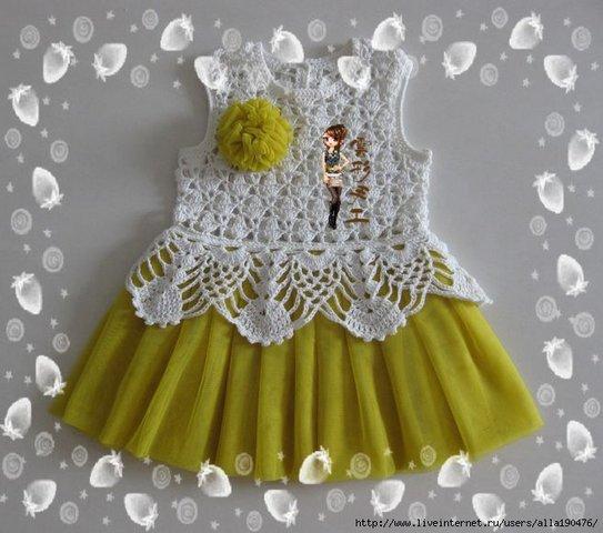 вяÐаные платья для девочек
