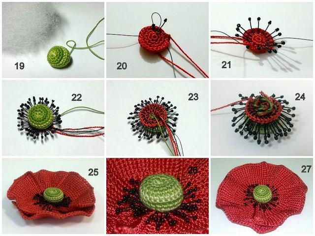 Схемы для вязания маки