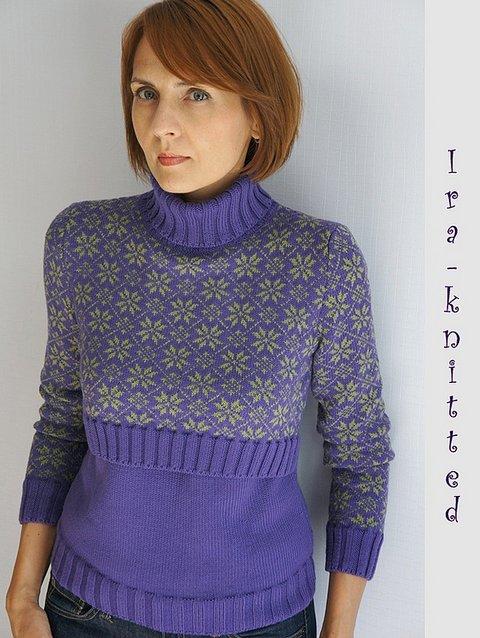 11ba2c723651 Вязаный свитер для кормящей мамы. Фото-мастер-класс + схема ...