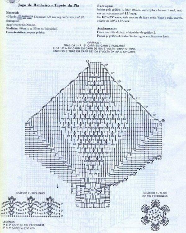 коврик крючком схема 1