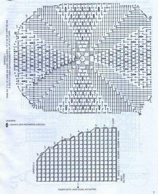 коврик крючком схема
