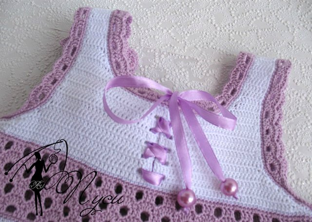 вязаное крючком платье для девочки