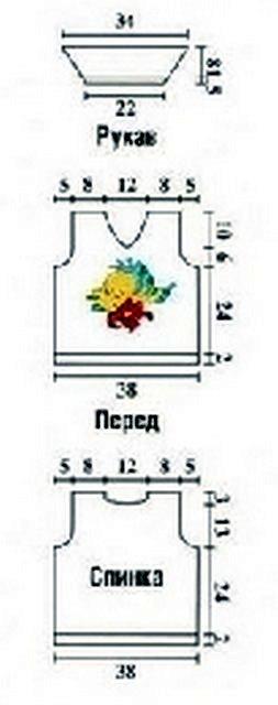 летняя вязаная кофточка для мальчика схема