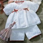 вязаные костюмы для детей до года